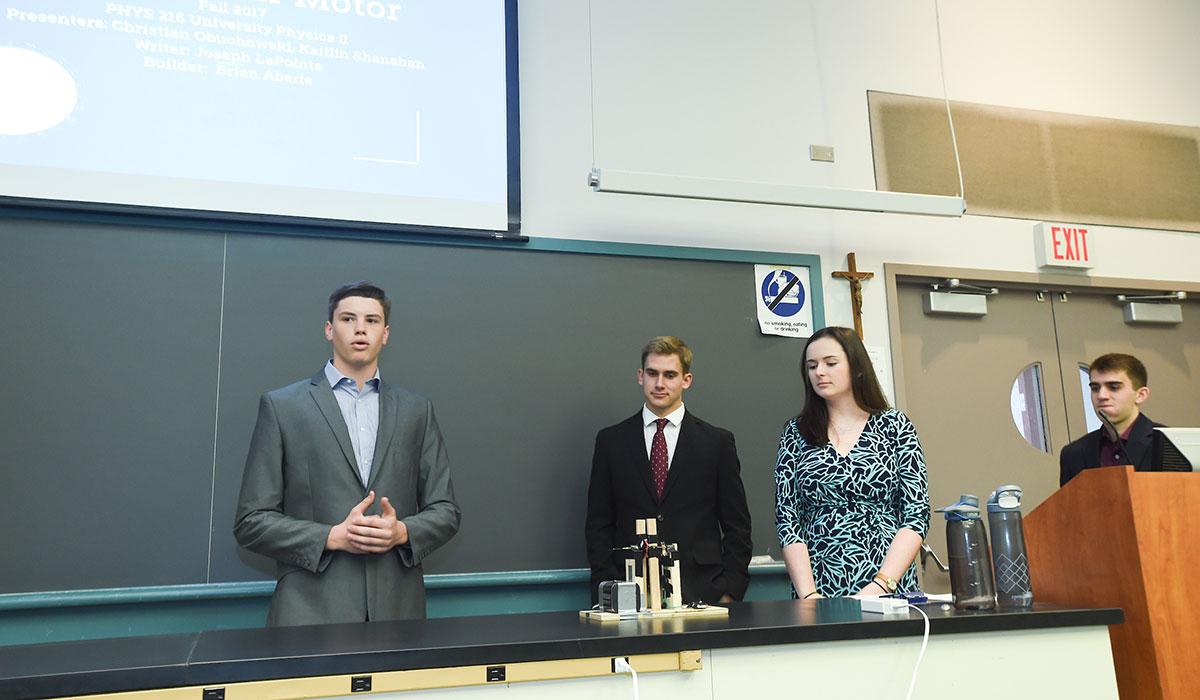 Students doing presentation